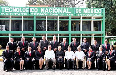 Catedráticos y directivos de la academia de Ingeniería Industrial.