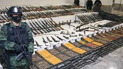 Otras armas provienen de Rusia, India, Vietnam, China, Argelia, Francia y Alemania.