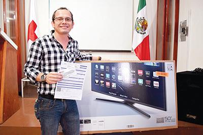 Mauricio Ortega, el afortunado ganador.