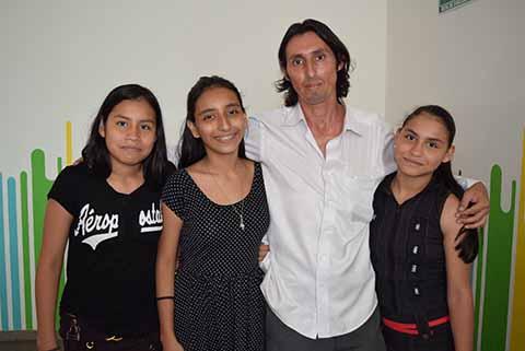 Andrea, Luis, Gustavo, Daniela Trampe.