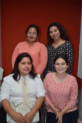 Virginia Rodríguez, Hanna del Ángel, Aury Ross, Diana Ramón.