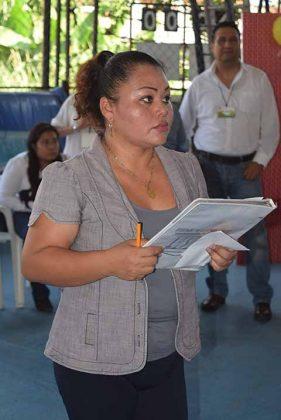 Lic. Wendy Martínez, catedrática de la materia.