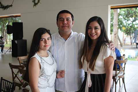 Aziza Trujillo, Julio Trujillo, Lisseete Tavernier.