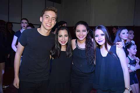 Daniel Marín, Sofía Chang, Romina Soto, Majo Fierros.