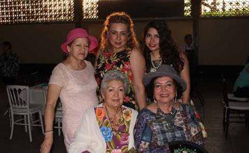 Lupita de Rueda, Carmelita Cerdio, Carmelita Ballinas, Elisa Hintze, Esthela Cruz Viuda de Zamora.