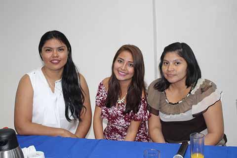 Ariana Maas, Fátima Orozco, Nadia Paz.