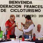 Da Bienvenida Fernando Castellanos a Federación Francesa de Cicloturista