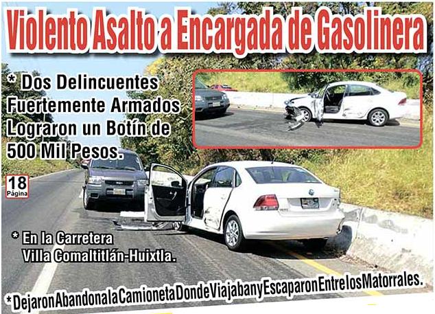 Violento Asalto a Encargada de Gasolinera