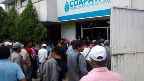 Otra Vez en Paro Trabajadores del Coapatap por Adeudos de Salarios