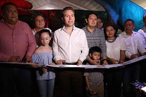 El mandatario estatal Manuel Velasco Coello, acompañado del diputado federal Enrique Zamora Morlet, del alcalde Neftalí del Toro Guzmán, entre otras personalidades, dio a conocer la estadía de esa exposición durante todo el mes de febrero en Tapachula, para que toda la población pueda visitarla. La entrada es gratuita.