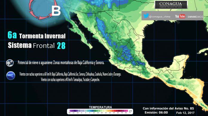 Prevén Tormentas y Nevadas en el Norte del País