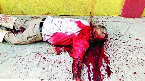 Asesinan a un Abuelito en la Calle