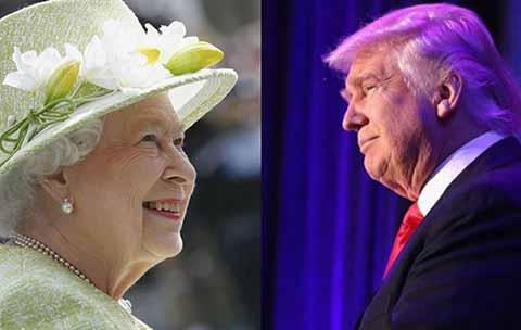 Buscan Impedir Visita de Donald Trump Para Evitar Vergüenza a la Reina Isabel
