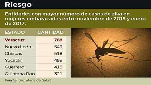 Chiapas en Tercer Lugar de Mujeres Embarazadas Contagiadas de Zika