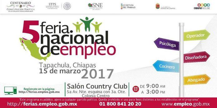 Hoy 5a. Feria del Empleo Tapachula 2017 en el Contry Club de 9 a 15 Horas: Flores