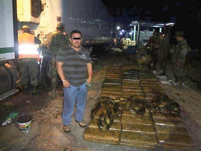 Asegura el Ejército Mexicano 324 Kilos de Marihuana