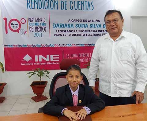 Silva Dichi, Niña Diputada Rindió Informe de Actividades