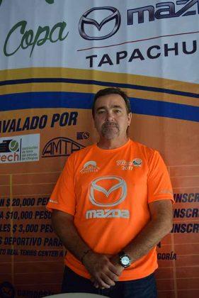 Mario Levet, presidente del Comité de Tenis del Club Campestre.