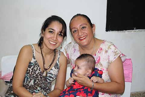 Daniela Espino, Pily, Carolina Rodríguez.
