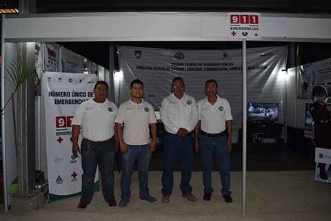 Sistema Estatal de Seguridad Pública: Jonathan Méndez, Roberto González, Francisco Vázquez, Creseldo Arévalo.