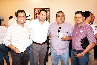 José Cocon, Jorge Elorza, Alberto Vázquez, Leonardo Córdova.