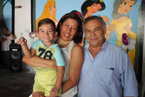 Sebastián Choel, Mercedes González, Jorge Choel.