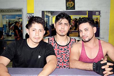 David Hernández, Luis Muñoz, Pedro Funes.