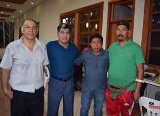 Humberto Blanco, Olivio Santos, Jesús Escalante, José Castillo.