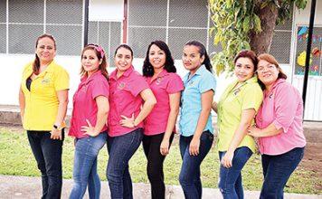 Susana Marroquín, Natali Gálvez, Johana Cruz, Gaby García, Elizabeth Amores, Paola de la Cruz, Mabel López.