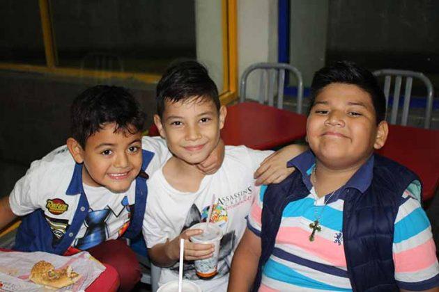 Kaleb García, Isaac Pérez, Alejandro García.