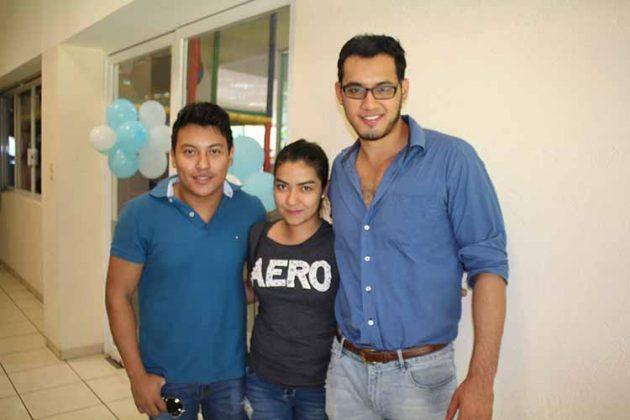 Luis López, Mariel Rivas, Rodrigo Chávez.