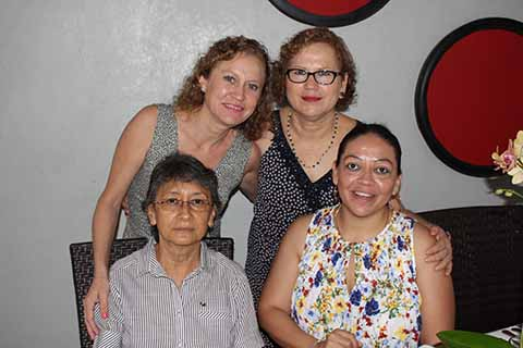 Eunice Trujillo, Eunice Vázquez, Rosalba, Hernández, Cuquita de Koppel.
