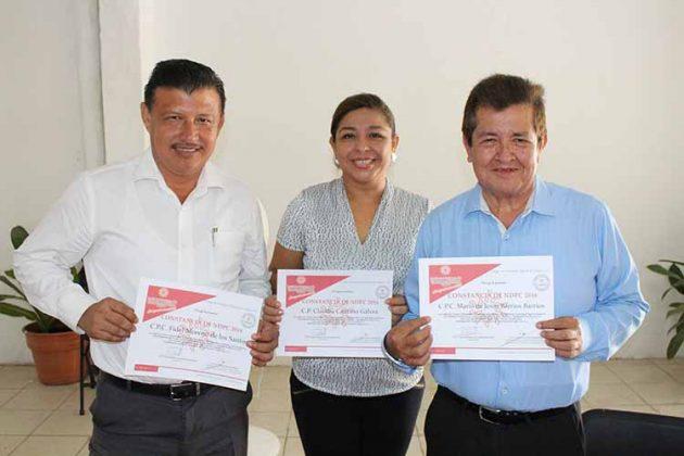 Fidel Moreno, Claudia Cancino, Mario Barrios.
