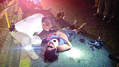 Dos Motociclistas Heridos en Accidente