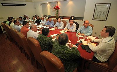 Encabeza Gobernador Velasco Mesa de Coordinación de Seguridad
