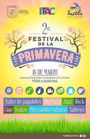 Invita Fernando Castellanos Asistir al II Festival de la Primavera Tuxtleca