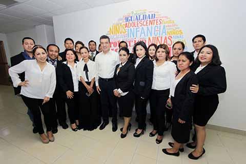 Visita Rutilio Escandón Juzgado en Villacrisol