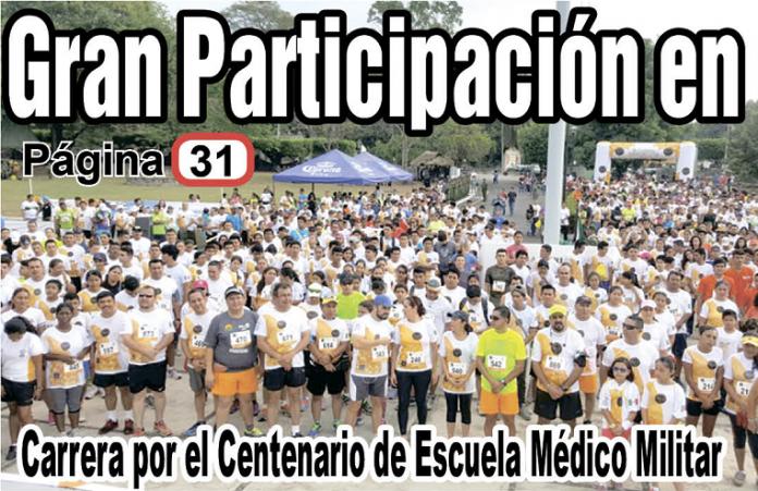 Corren por el Centenario de Escuela Médico Militar
