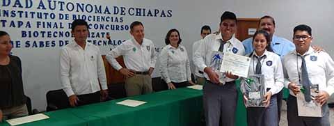 Preparatoria Tapachula No. 1 Ganadora del Primer Lugar en Concurso Biotecnologízate