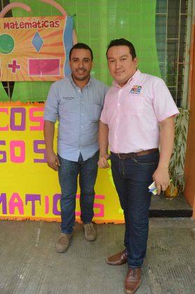 Los profesores: Jorge Cruz, Fredy Gálvez.
