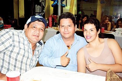 Iván Marina, Julio Quezada, Nidia Tirado.