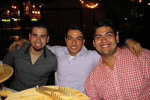 Rubén Corzo, Jhordan López, Daniel Morett.