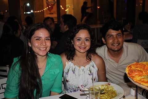 Paulina Trejo, Claudia Hernández, Bernardo González.