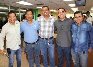 Manuel Espinoza, Carlos Nieto, Luis Citalán, Raúl Rivero, Andrés Rosales.