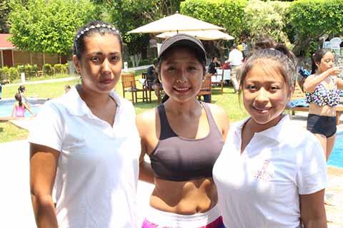Tania Vargas, Elisa Chávez, Guadalupe Velázquez.