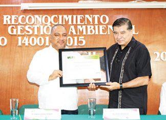 Gonzalo Vázquez, Rector Universidad Politécnica; Oscar López, Director General de Gestión Ambiental.