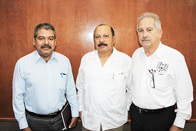 Jorge Toledo, Juan Gómez, René Bodegas.