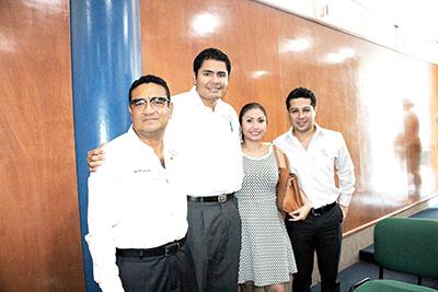 Beto Pineda, Rubén Leal, Tania Espinal, Gerardo Vera.