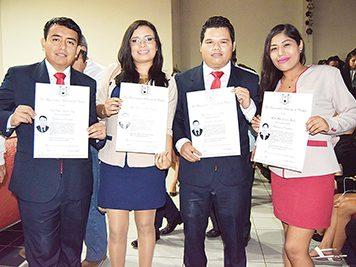 Luis Batalla, Guadalupe González, Carlos Barrios, Martha Bartolón.