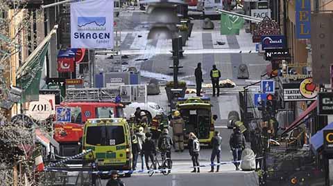 Atentado Terrorista en Estocolmo: 4 Muertos y 15 Heridos